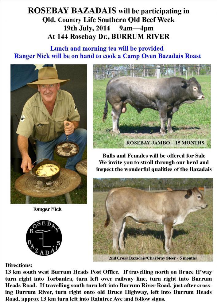 Ranger Nick at Rosebay Bazadais Open Day