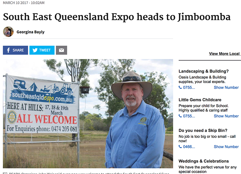 Ranger Nick at South East Qld Expo Jimboomba