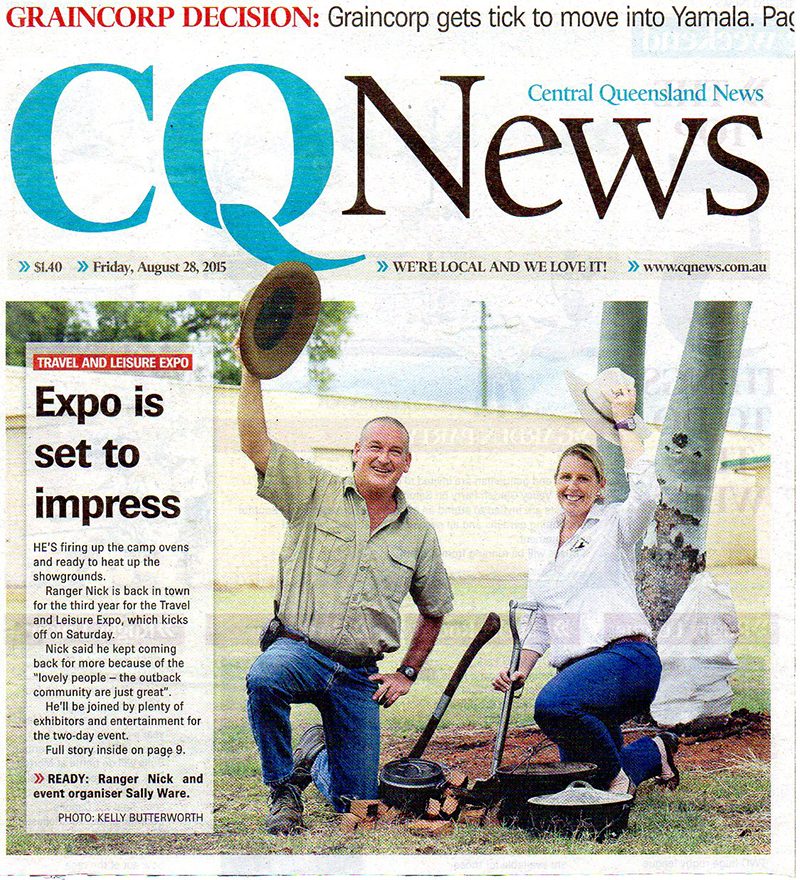 Ranger Nick made front page in Central Queensland News
