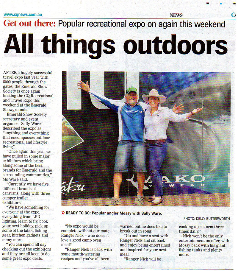 Ranger Nick write up in Central Queensland News