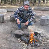 Ranger Nick around the campfire