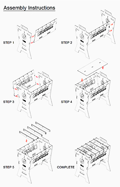 Compact Campfire Assembly Instructions