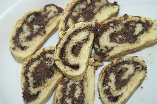 Chocolate Damper Scrolls