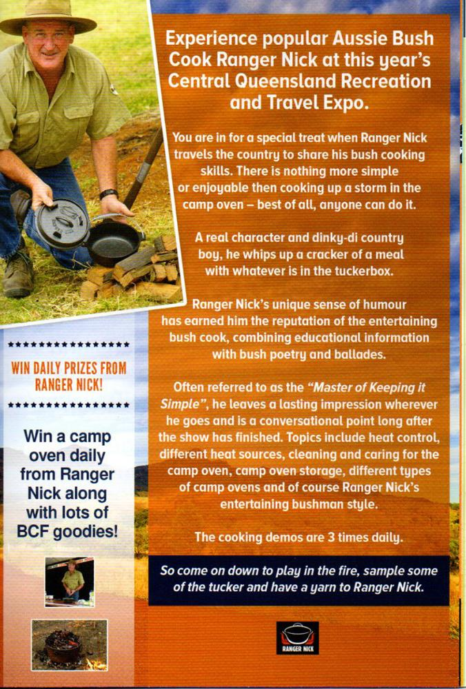 Ranger Nick at the Central Queensland Recreation and Travel Expo in Emerald 2016