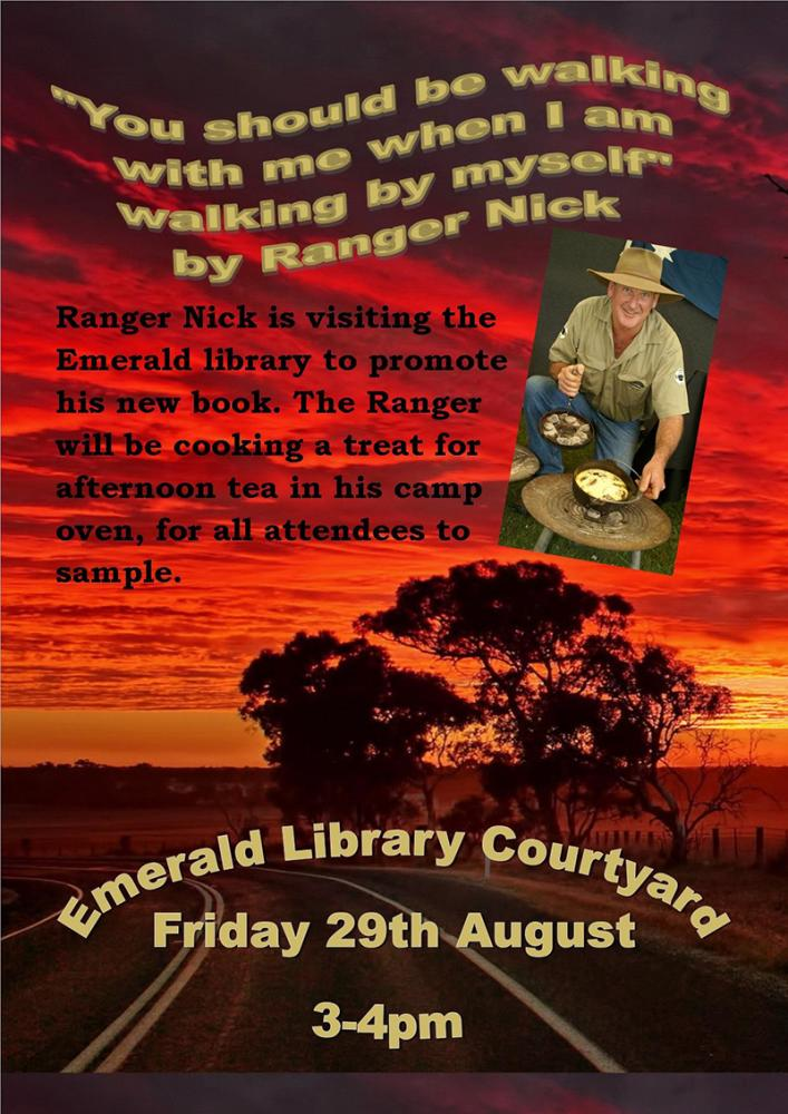 Ranger Nick's Author talk at Emerald Library