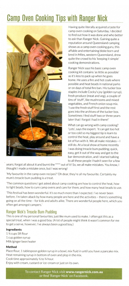 Go Camping Magazine - Camp Oven Cooking Tips with Ranger Nick
