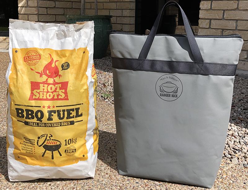Charcoal Briquettes Carry Bag