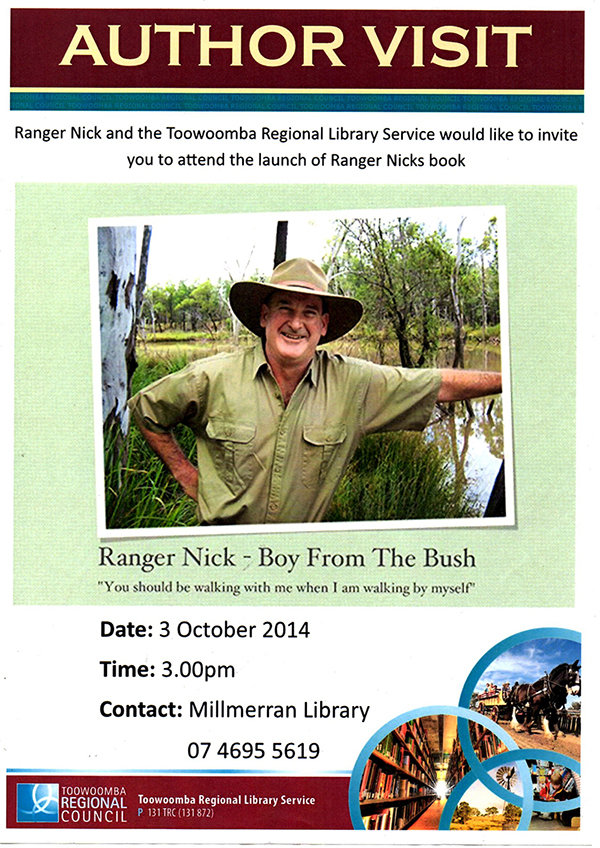 Author Talk at Millmerran Library with Ranger Nick