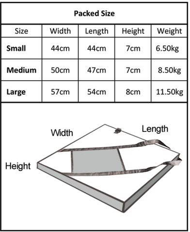 Quokka foldable fire pit pack up sizes