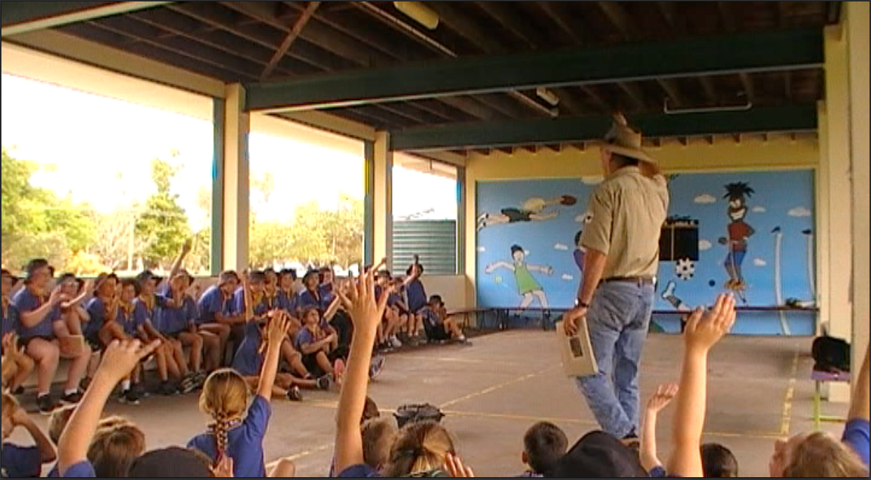 Ranger Nick school visit