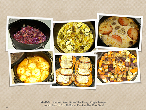 Ranger Nick camp oven recipe book main meals