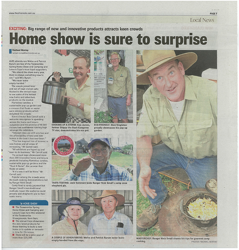 Ranger Nick in Toowoomba Chronicle