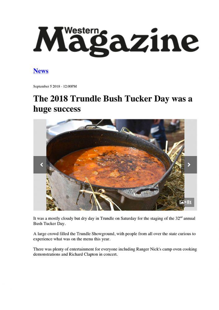 Western Magazine - Ranger Nick Sep 2018