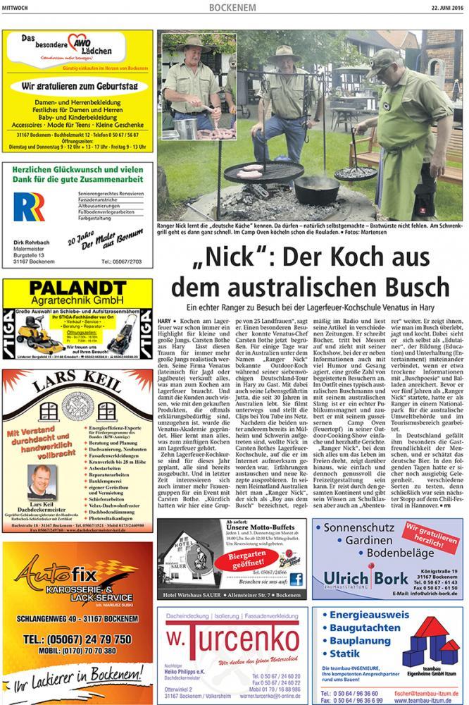 Aussie Busch Cook Ranger Nick in Germany - Leinetal